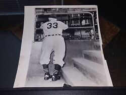 1943 Type 1 Original Press Photo Honus Wagner 100 Authentic W/ A.p. Wire Stamp