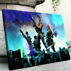 Fortnite Video Game Paper Posters Or Canvas Wooden Frame Wall Art