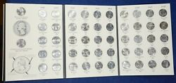 Fifty State Commemorative Washington Quarters 1999-2008 Complete - Some Toning