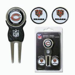 Team Golf Nfl Chicago Bears Divot Tool With 3 Golf Ball Markers Set