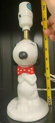 Real Vintage - Peanuts Snoopy Dog Ceramic Table Lamp 1958 1966 United Syndicate