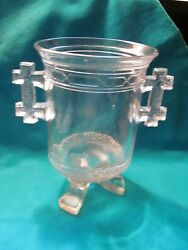 Antique 1879 Eapg Labelle And Co. Glass Queen Anne Pattern Celery Vase - Vgc