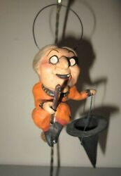 Scott Rucus Studio Bethany Lowe Halloween Witch Mini Candy Container 2007 Mint