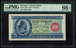 P160a Hungary 100 Forint 1946 Gem Unc Pmg 66 Epq Best Known Only 1