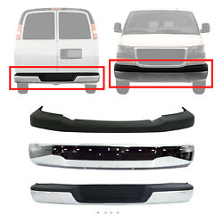 New Set Of 3 Front And Rear Chrome Bumper Face Bar Kit For Express 1500 2003-2014