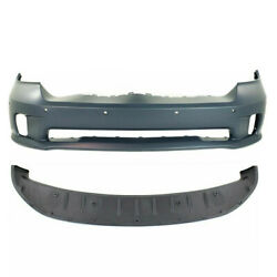 New Set Of 2 Front Primed Bumper Facial Cover Valance Kit For Ram 1500 2014-2018