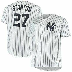 Giancarlo Stanton New York Yankees Big And Tall Replica Player Jersey - White