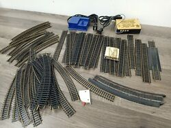 Vintage Mixed Lot Of 50+ Ho Model Train Tracks, Controls, 2 Controller's Tested