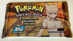 💖1998 Pokemon The First Movie 8 Trading Cards One Foil Card Brand New Sealed