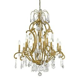 Acclaim Lighting Claire 12-light Chandelier - Gold Gold