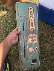 Rare Vintage Antique  Hershey's Penny Bar Advertising Thermometer