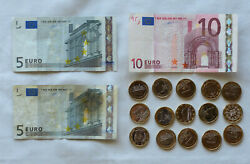 35 Euros Coin And Currency Pocket Change For Your European Trip