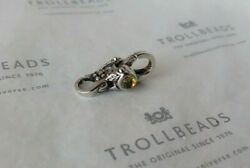 Authentic Trollbeads Mexico Lock Clasp Long Retired Stunning Dichroic Glass