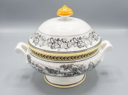 Villeroy And Boch Audun Ferme Round Covered Footed Vegetable Bowl And Lid Serving