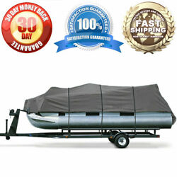Brand New Pontoon Storage Cover 17ft - 19ft Gray Tie Down Straps Weather Proof