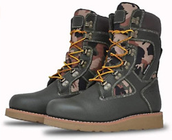 Asolo As-2009 Mensand039 Welt High 9 Hiker Boot Olive Green And Camouflage Size 9.5m
