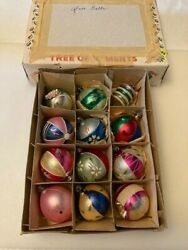Vintage Christmas Ornaments. 12. Gorgeous Handpainted Balls Variety