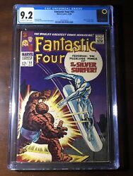 Fantastic Four 55 1966 - Thing Vs Silver Surfer Cover - Cgc 9.2