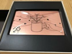 New Japanese Starbucks Rare Card 2021 Limited Edition 25years Anniversary F/s
