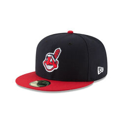 Cleveland Indians Chief Wahoo New Era Authentic Collection Home Fitted Hat Cap