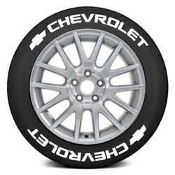 Tire Stickers Chvrlt-1921-125-8-w White Chevy Tire Lettering Kit