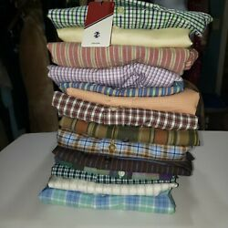 Men's Lot Of 14 Dress Shirts Nwt And Pre-owned Size Xxl 2xl 18