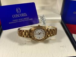 Concord Steeplechase Solid Gold 18k 51-36-261 Diamond Bezel And Dial Retail