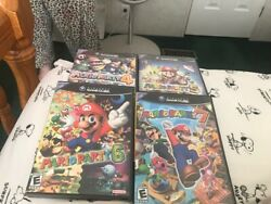 Mario Party 4,5,6,7, Mario Party 5, Party 6 Gamecube Game Lot Complete