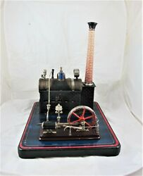 Original German Made Bing Live Steam Boiler And Engine On Stand, C1920's