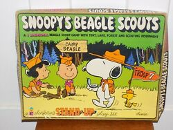 Vintage Snoopy's Beagle Scouts Stand Up Colorforms Play Set