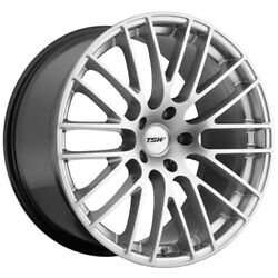 Staggered Tsw Max Front 19x8.5, Rear 19x9.5 5x120 Hyper Silver Wheels Rims