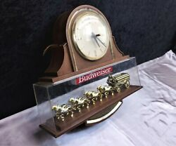 Budweiser Clydesdale Horse Beer Light And Clock Vintage - Great Deal 👀