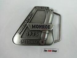 1975 Indianapolis 500 Belt Buckle Limited Edition 281 Of 500 Pewter Bobby Unser