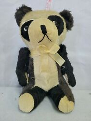 Vintage 7 Panda Bear With Movable Arms And Working Squeaker Toy.