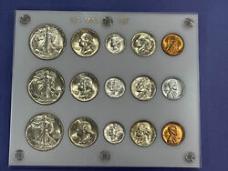 1942 1943 And 1944-p Us Mint Coin Sets In A Gorgeous Capital Holder 90 Silver A++