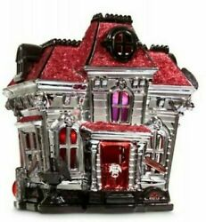 Bath And Body Works Halloween Haunted House Luminary 3 Wick Candle Holder