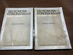 Toyota Corona Mark Ii Body Chassis Group Auto Repair Shop Manual Lot Two Used