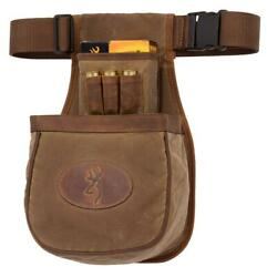 Browning Santa Fe Shell Pouch Tan Canvas Body W/leather Accents Model 121040082