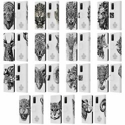 Bioworkz Animal Head Leather Book Wallet Case Cover For Samsung Phones 1