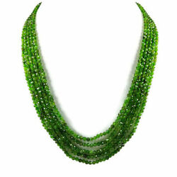 Chrome Diopside 3 Mm Round Micro Faceted Beads Gemstone Necklace 5 Strand Ca176