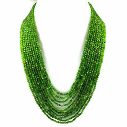 Chrome Diopside 3 Mm Round Micro Faceted Beads Gemstone Necklace 10 Strandca178