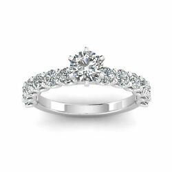 Certified 2.00ctw Diamond Solitaire Engagement Ring In 14k White Gold G-h I2