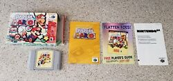 Paper Mario Nintendo 64 N64 Video Game Complete Cib Manual Box Lot Clean Tested
