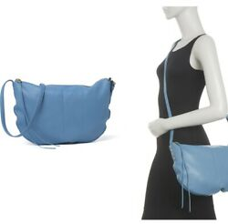 Hobo Leather Crossbody Style Is Cosmo In Color Dusty Blue $59.99