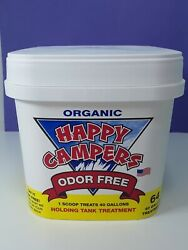 New Organic Happy Campers Odor Free Holding Tank Treatment 64 Treatments 40 Gal