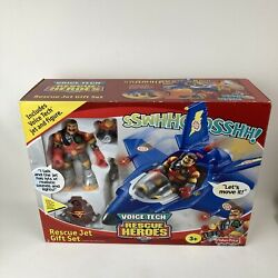 Fisher-price Voice Tech Rescue Heroes Rescue Jet Gift Set Vintage 2000 Unopened