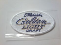 New Michelob Golden Light Draft Beer Iron On Patch Mich Golden 3 Rare