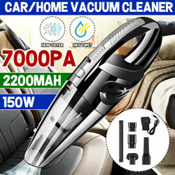 Cordless Car Vacuum Cleaner Handheld Quick Charge Wetanddry Strong Suction Duster