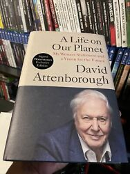 David Attenborough Signed A Life On Our Planet Book Hardback Autograph New