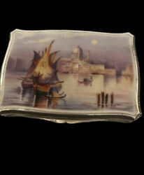 Silver And Enamel Box With A Scene Of Venice - 1928